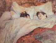 the bed Henri de toulouse-lautrec